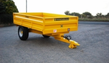 Industrial Yellow S/4 Drop-side Trailer