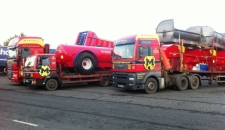 Marshall lorries on route to the LAMMA Show 2012