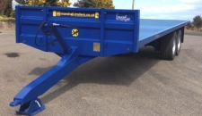 Marshall BC/27 Bale Trailer, Newholland Blue, 420x180 10stud Axles