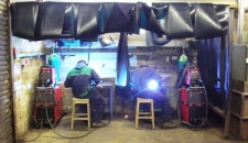 Lackham Students Using Welders Provided by Marshalls