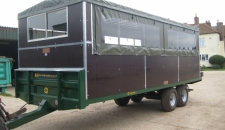 Bespoke Marshall BC/21 Bale Trailer Retrofitted With Shooting Hide