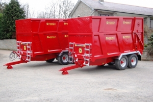 Two Bespoke QM/1200SS Silage Trailers