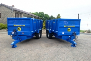 Two Bespoke QM/12 Grain Trailers