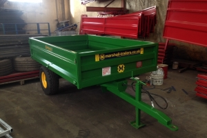 John Deere Green S/2 Drop-side Trailer