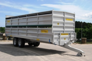 25' Livestock Container c/w Host Trailer Finished in Grey