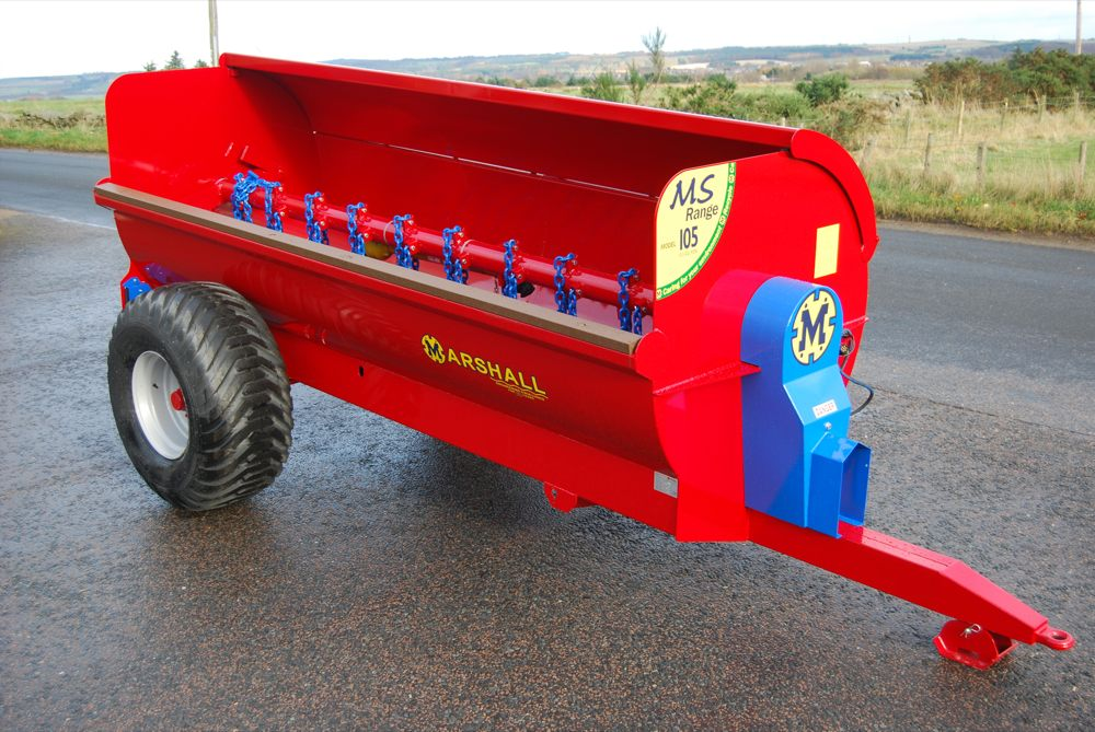 Marshall MS105 side discharge dung spreader