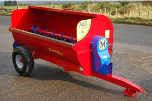 The Marshall MS60 side discharge dung spreader