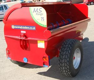 The Marshall MS75 side discharge side spreader