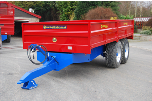 Marshall S10 drop side 10.5 tonne tipping trailer