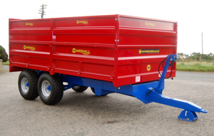 The S85 Marshall drop side tipping trailer.