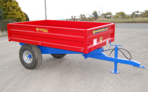 The Marshall S2 drop side tipping trailer